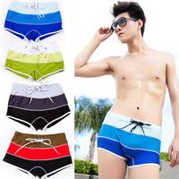 Male swimming trunks fashion boxer swimming trunks men's swimwear sexy swimsuit plus size plus size
