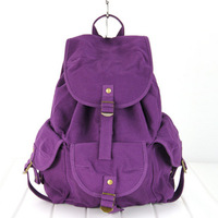 women's backpack travel canvas bag casual middle school students bag
