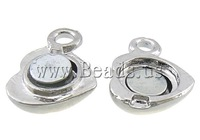 Free shipping!!!Zinc Alloy Magnetic Clasp,Trendy Fashion Jewelry, Heart, platinum color plated, single-strand, nickel