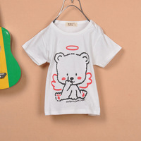 Bear children t-shirt summer children's clothing cotton short-sleeve 100% ploughboys short-sleeve summer short-sleeve