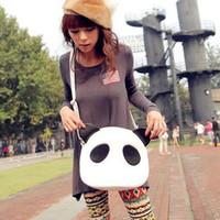 New Hot Womens Girls Cute Panda PU Leather Handbag Shoulder Bag Cross Body free shipping  W1245