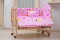Baby bedding 100% cotton five pieces set crib unpick and wash 100 60 bed
