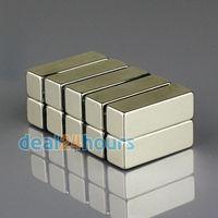 10PCS  Super Strong Block Magnet 30mm x 10mm x 10mm Rare Earth Neodymium Bulk N35 Free Shipping