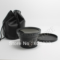 100% GUARANTEE  0.43x Soft Fisheye Wide Angle Lens with Macro  58 MM  for Canon EOS 500D 550D 600D