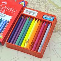 Faber castell faber-castell 24 erassable trigonometric crayon plastic crayon, w/ pencil sharpener, free shipping
