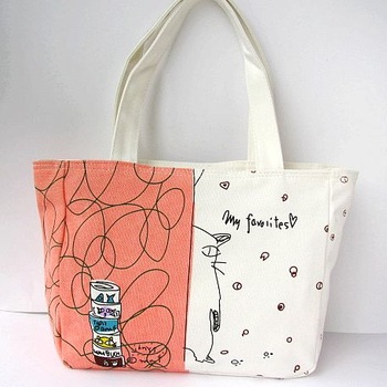 2013 neko cat  shoulder  handbag tote casual  small canvas bag