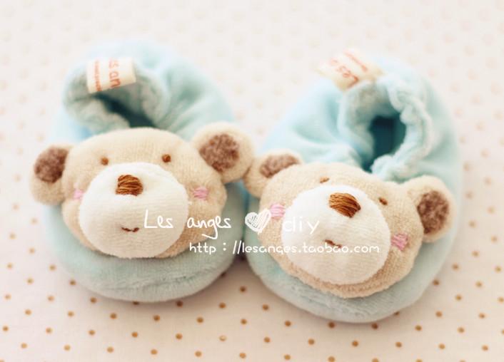 Últimas Velvet Handmade bonito tenis Urso Baby / Kids Shoes / Calçados baratos , e não o produto acabado , Kit de Material de Bricolage , Frete Grátis(China (Mainland))