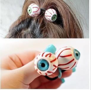 Free Shipping! 2014 Hot Sale Fashion Korean Personalized Eye Ball Blood Elastic Hair Band Hai Rope For Women Hair Accessories(China (Mainland))