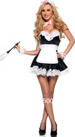 Free shipping 2013  Hot Sale Fanny Cute  French Adult  Sexy Maid Costumes