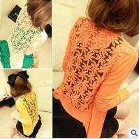 2014 women fashionable sun proof clothes Cardigan thin coat  Lace knitting coat Good Quality Nice Design Coat