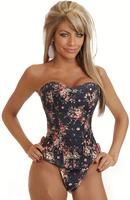 hot sale  floral cloth fashion corset F3156-2