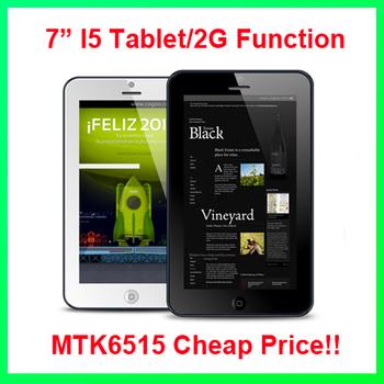 cheap 7 inch MTK6515 bluetooth 2G MTK6515 I5 Tablet PC 512MB/4GB