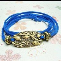 Min.order is $15(mix order),new beautiful retro style women wrap leather bracelets,fashion jewelry,25-14 Free shipping