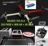 READY-TO-FLY: DJI Wookong-M Multi-Rotor Autopilot+DJI QUAD F450+Futaba 8FG Radio