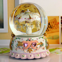 Large crystal ball music box music box birthday male
