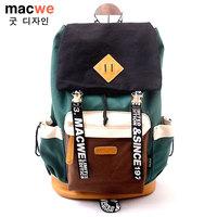 Macwe vintage fashion preppy style computer backpack travel backpack SMTE011