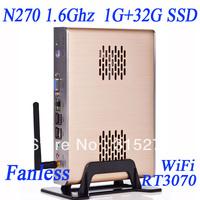 wholesale Intel Atom N270 1.6Ghz 1G RAM DDR2 32G sunspeed SSD GPU onboard WiFi builtin 150M Windows 7 installed computer