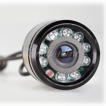 9 LED Car Rear View Reversing Flush Backup Camera Day Night Vision Parking Light Lamp PAL NTSC Security Cameras Free Shipping