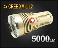 Super Bright UniqueFire King 5000 Lumen 4x CREE XM-L L2 LED Flashlight Lamp High Power Torch For Camping UF-V10-4
