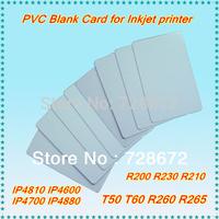 wholesale Blank PVC card Blank ID card , PVC Blank card for PVC/ID card tray Epson inkjet T50 T60 P50 R200 R230 R260