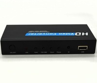 2014  component VGA to HDMI converter 720p 1080p video converter adapter upscaler the  newest hot sale