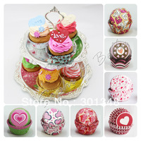 Random 500 pcs  paper baking cups muffin cases cupcake liners  K