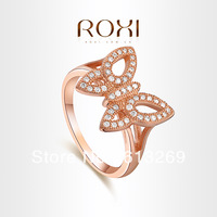 ROXI brand cute Butterfly Ring Rose Gold Plated, Zircon crystal rings for women,fashion jewelry,gifts for women,101026354