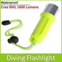 Sale ! Waterproof CREE XM-L T6 1600 Lumens LED Diving Flashlight Torch Lamp For The Scuba Underwater Fishing Hunting