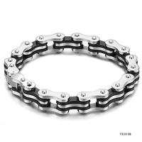 Fashion Creative 316L Stainless Steel Accessories Decoractive Silica Gel Bike Chain Shape Bracelets & Bangles Man Free Shipping