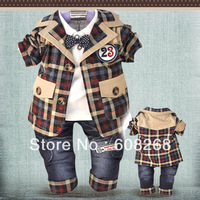 Free shipping Korean children Labeling Kit handsome three-piece suit suits