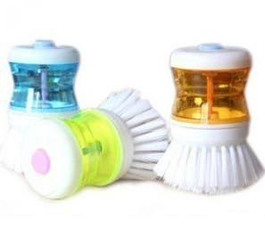 free shipping ABS washing brush cleaning fluid brush pot,5.5*8.5cm,ZL053