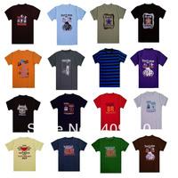 whole sale 30pcs/lot,Loose men's clothing plus size male personality short-sleeve T-shirt male t-shirt short-sleeve t short