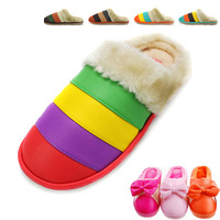 Free Shipping Lovers Winter Thickening Warm Cotton Slippers Non-slip Maternity Shoes House Slippers Casual And Comfortable