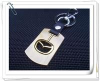 7pcs/lot, MazdaMotor car logo Keychain,metal rotating Key Chain,Automobile badge Key Ring Mazda EMBLEM KEYCHAIN KEY RING
