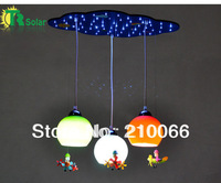 Free shipping ( 2 pieces/lot)  Colorful  Children Pendant Lamp For Bedroom, Child's room