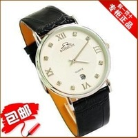 Casual ultra-thin quartz watch fashion male watches strap fashion table calendar mens watch vintage table
