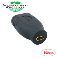 Wholesale Micro HDMI D Type Female to HDMI 1 4 A Type Female Coupler Adapter