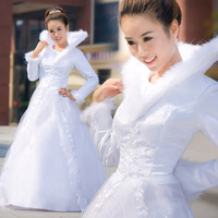 Thermal 2013 wedding winter plus cotton fashion elegant wedding dress