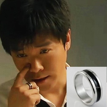Love story titanium ring male ring magnetic