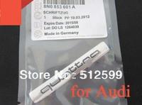Original Made in Germany Black QUATTRO Emblem Metal Grill Badge 3D Car Logo For Audi A5 a6l A4L 10pcs via CN shipment