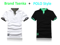 Brand Tsenka t-shirt for polo style cotton firber t-shirt soft comfortable for polo t-shirt men's short sleeve fashion t shirt