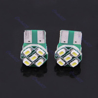 8pcs/lot Bright T10 3020 5 SMD LED Car Auto Wedge Turn Signals Light Lamp Bulb White+Free Shipping