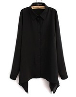 Free shipping  2013 turn-down collar chiffon shirt sunscreen cardigan plus size mm