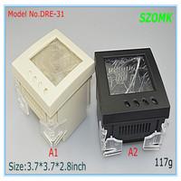 10   pieces a lot (  3.8*3.8*2.8inch   95*95*72mm) din rail plastic enclosure for electronics