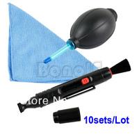 10sets/Lot Wholesale Camera Lens Pen Cleaning Pen 3 in 1 Cleaning Kit Set For Camera Lens TK0877