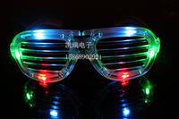 Colorful 09000900 louver window flashing glasses led glasses luminous mask decoration props