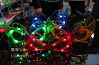 0087 butterfly led flashing glasses masquerade masks luminous hip-hop props