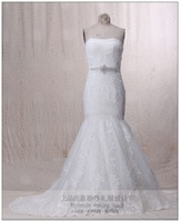 2013 fish tail tube top train wedding dress fashion quality lace
