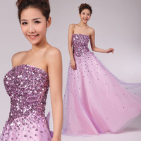 Purple tube top paillette strap 2013 toadyisms red formal dress gold romantic bride evening dress