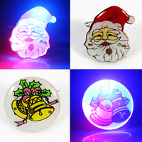 Christmas brooch Flash brooch badge colorful badge neon brooch